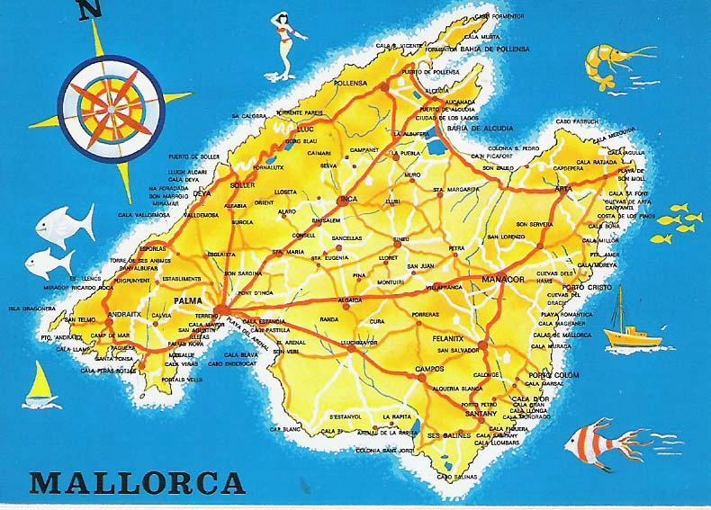 Majorque Baleares Espagne Carte.Vous Avez Cherche Carte De Majorque Baleares Arts Et Voyages